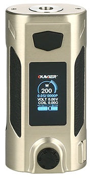 Oumeir Rudder 200W TC box mod - Brushed Silver