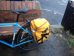 Regular pannier fitted to one side.