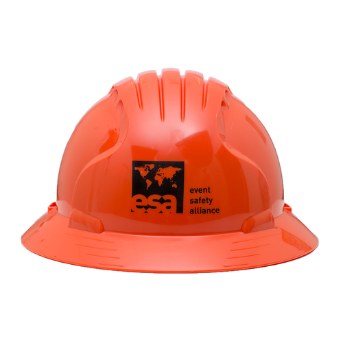 Safety Orange Logo Hard Hat