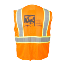 Load image into Gallery viewer, High Visibility Safety Orange Vest