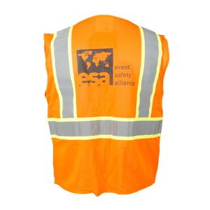 High Visibility Safety Orange Vest