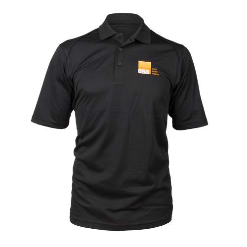 Men's Black Logo Polo Shirt