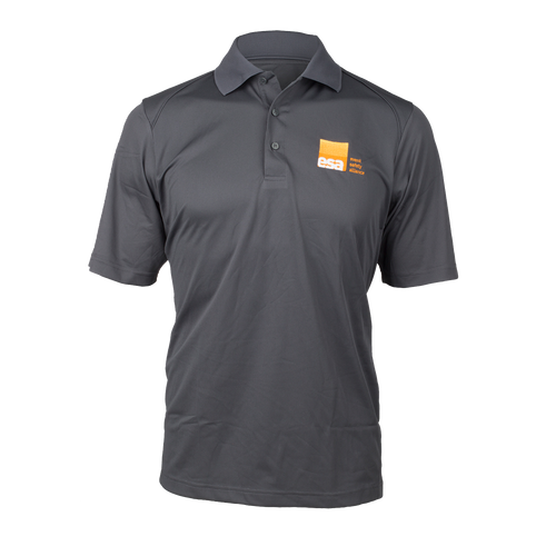 Men's Grey Logo Polo Shirt