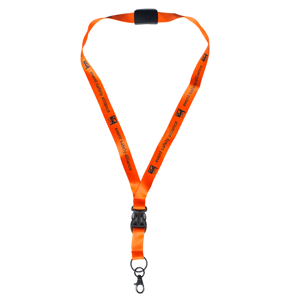 Safety Orange Lanyard