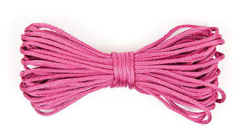 ✿ Satijn Koord Fuchsia 2 mm/ 6m ✿