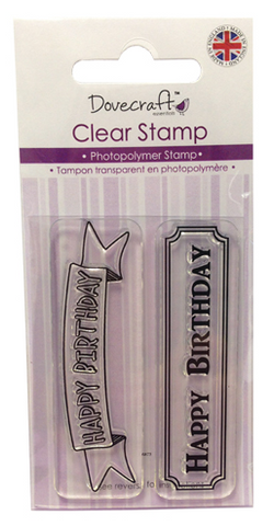 "✿ Silikon Stempel ""Happy Birghtday"" ✿"
