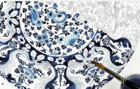 ✿ Artists' Colouring Book Delft ✿