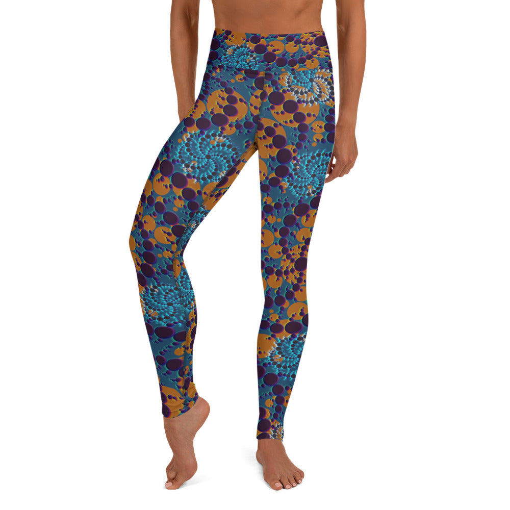 Spiral Circles Yoga Leggings