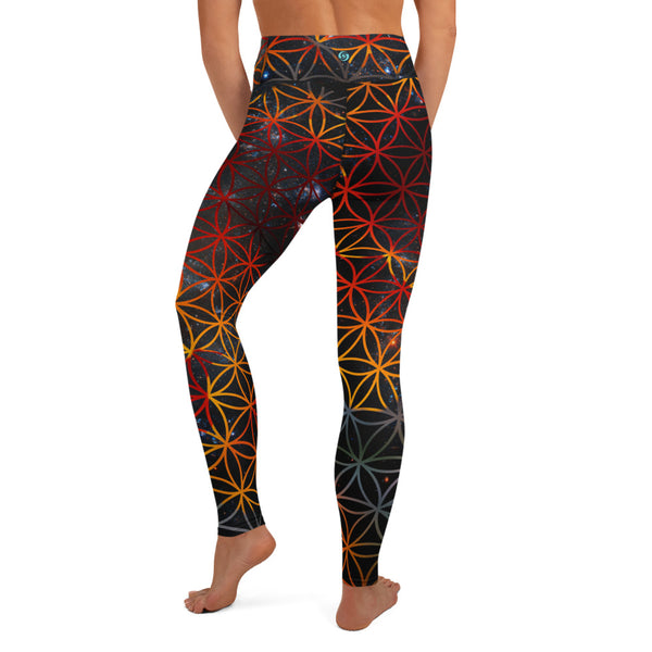 Cosmic Poppy Yoga Leggings