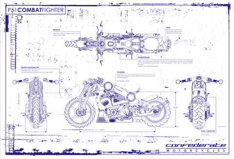 P51 Combat Fighter Blueprint