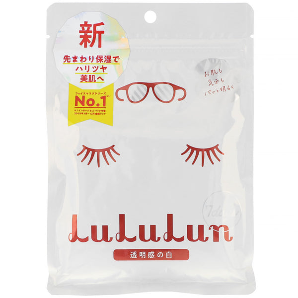 Lululun Clear Skin Face Mask White 7pcs