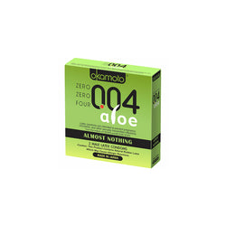 Okamoto Condoms Almost Nothing 004 Aloe [3 Types]