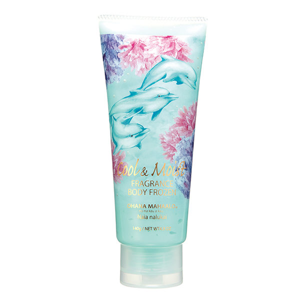 【Limited Edition】OHANA MAHAALO Cool&Moist Fragrance Body Frozen cool body gel  #Naia nalukai 限量 梦游海豚 晾干沙冰 晒后修复身体保湿镇静啫喱 140g