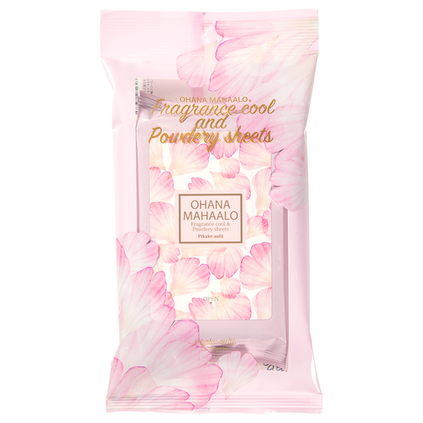 OHANA MAHAALO Fragrance Cool & Powdery Sheets〈Pikake aulii〉 (15PCS)