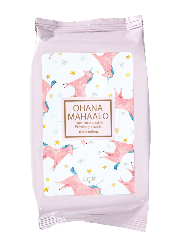 OHANA MAHAALO Fragrance Cool & Powdery Sheets〈Halia nohea〉 (15PCS)
