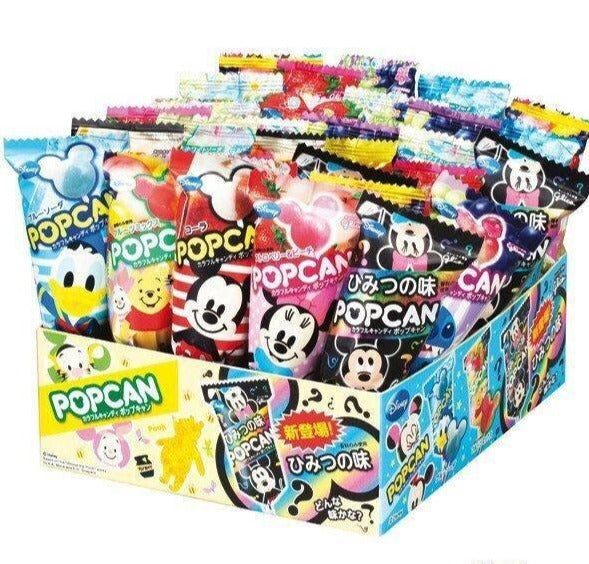 GLICO Disney Popcan Mix Flavor Lollipop (Box/30pc) 江崎 迪士尼什锦味棒棒糖 盒/30枚