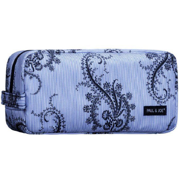 Paul & Joe Cosmetic Pouch III Blue & Black Paisley Print 化妆袋