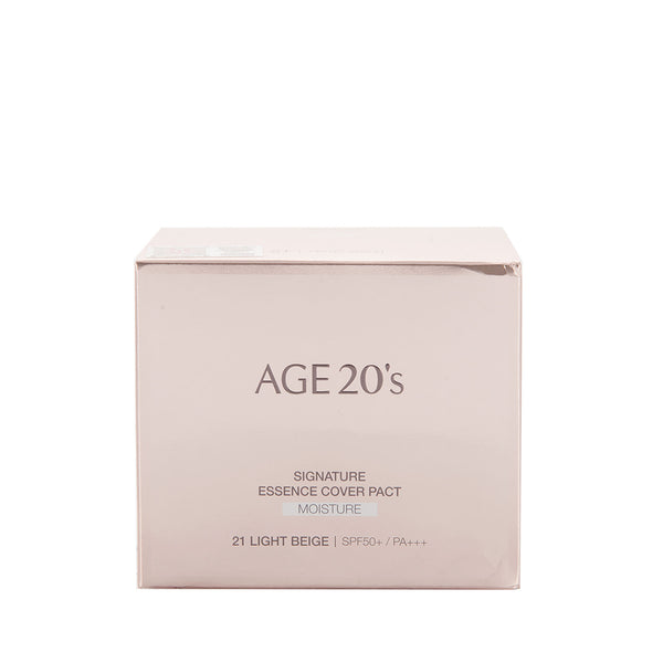 Age 20's Signature Essence Cover Pact [Moisture] 精华遮瑕粉底 [滋润保湿] #21 Light Beige