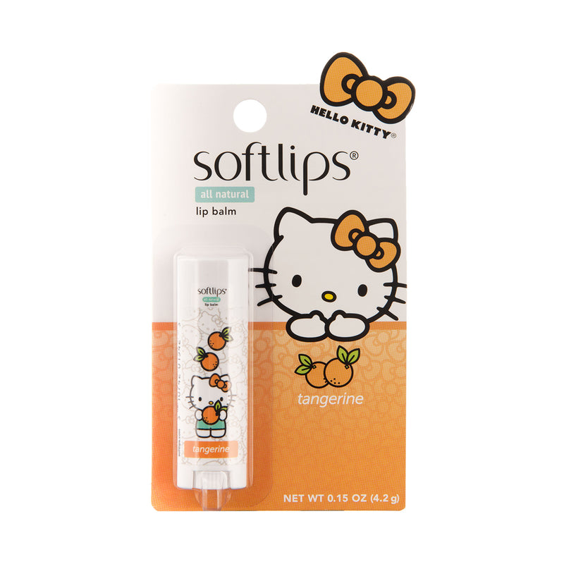 Softlips Hello Kitty All Natural Lip Balm Tangerine/Crisp Apple Hello Kitty款 水果味润唇膏