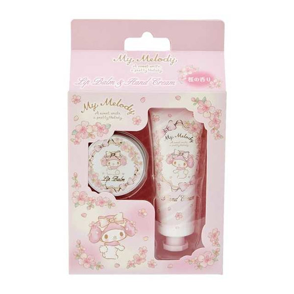 SANRIO Sakura Limited Edition Lip Balm & Hand Cream Set (My Melody) 三丽鸥 春季樱花限定护手霜润唇膏套装 (美乐蒂)