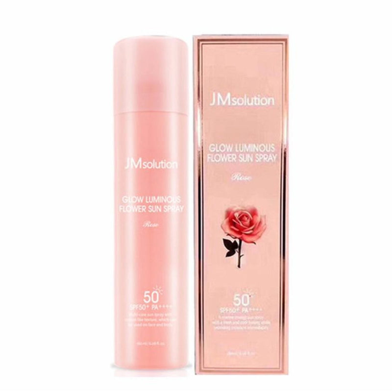 JMsolution Glow Luminous Flower Sun Spray SPF50+ PA++++  润光花朵防晒喷雾 玫瑰版 180ml