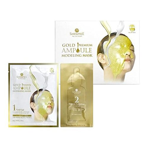 [2nd GEN] SHANGPREE Gold Premium Ampoule Modeling Mask (1 box/5 treatments)