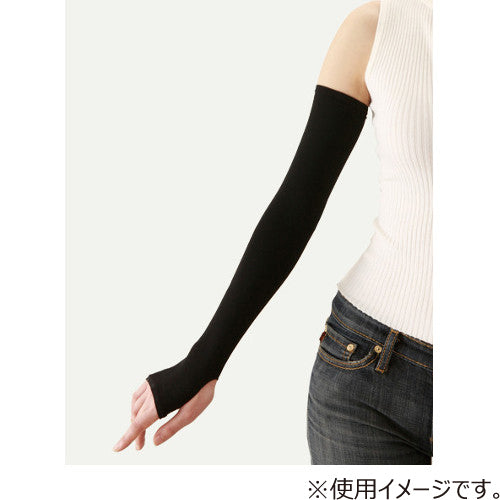 TRAIN ONNA NO YOKUBOU Cool & UV Arm Cover Sleevelets w/ Mesh Liner BK 1 PAIR 女之欲望 防晒隔离紫外线冰套袖 (黑色内侧网孔状)