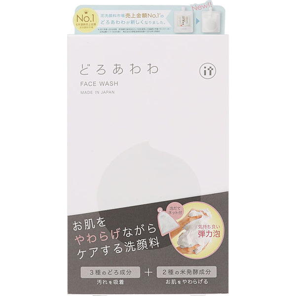 Kenkou Corporation Doroawawa Face Wash with Foaming Net