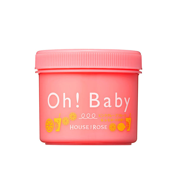 OH! BABY Body Smoother [Pink Grapefruit & Lemonade] 350G 玫瑰屋  柠檬西柚茶身体磨砂