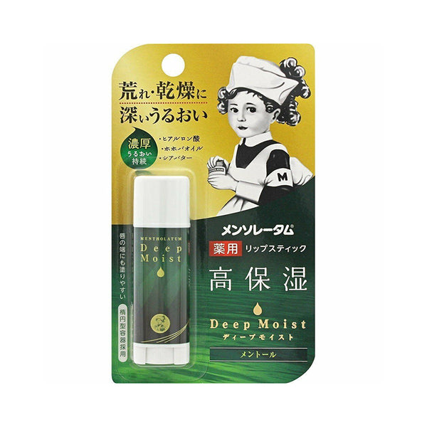 Rohto Japan MENTHOLATUM Deep Moist Lip Stick Balm 4.5G