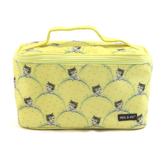 Paul & Joe Cosmetics Pouch II Yellow Cat Print 化妆袋