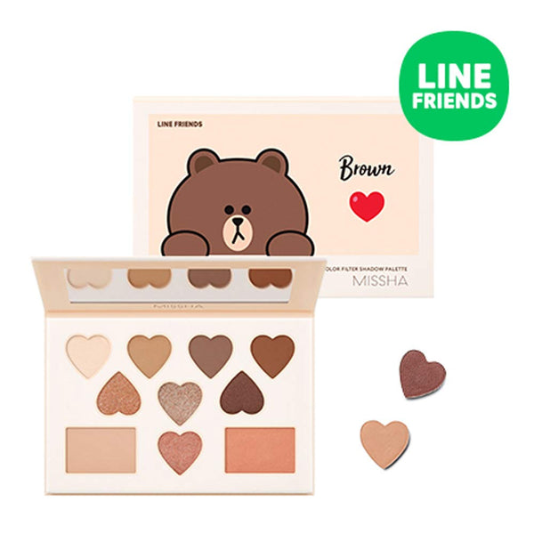 [MISSHA x LINE FRIENDS EDITION] Color Filter Shadow Palette #5 Shy Shy Brown