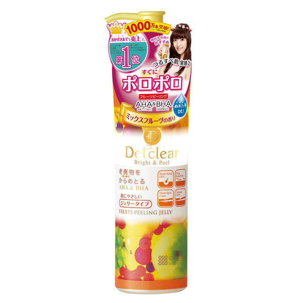 MEISHOKU Detclear Bright and Peel Facial Peeling Gel, Mix Fruit AHA&BHA果酸去角质凝胶混合果香