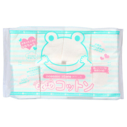 COSME STORE Extra Soft Nature Cotton Pads 120pads 青蛙纯天然无漂白纯棉化妆绵 120片