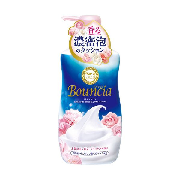 Bouncia Body Shampoo 日本COW Bouncia牛乳石碱沐浴露 花香味 550ml 浓密细腻泡沫保湿沐浴露