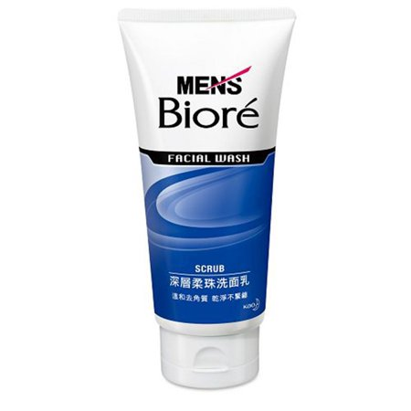 Biore Men's Facial Wash Scrub 130g 男士控油净肤洗面奶