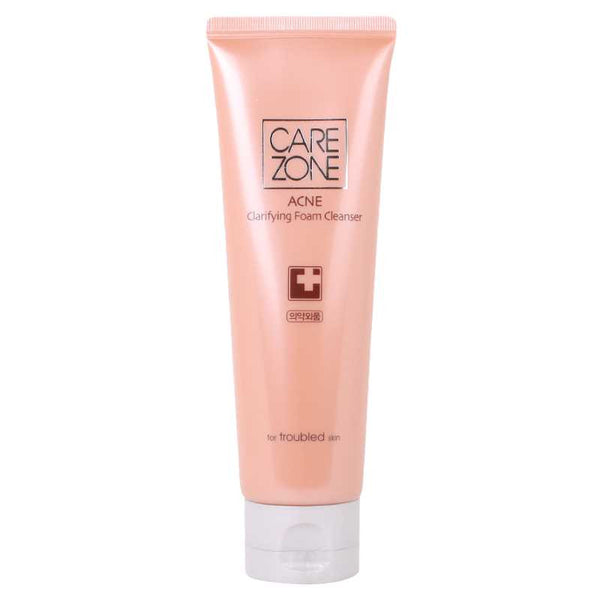 CAREZONE Acne Clarifying Foam Cleanser韩国Carezone 舒颜净肤泡沫洁面膏120g