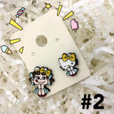 Hello Kitty+Doraemon+ Line Friends Earring可爱卡通人物款耳钉