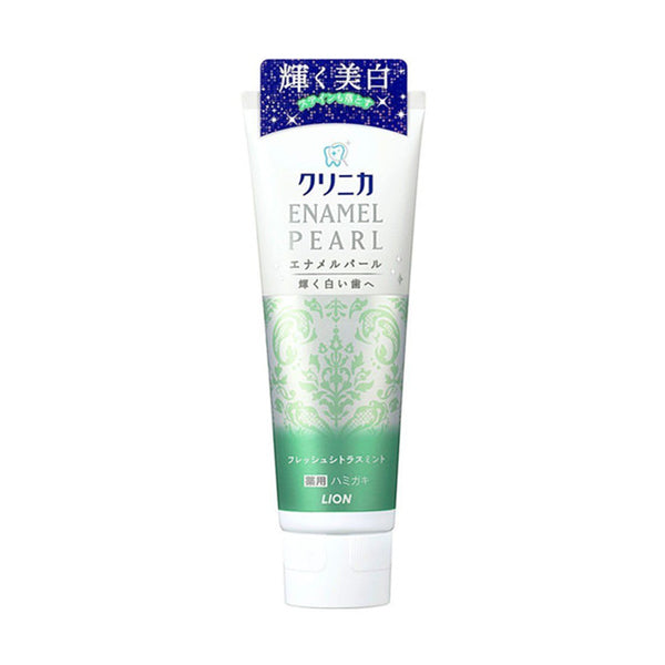 LION Clinica ENAMEL PEARL Medicated Toothpaste #Fresh Citrus Mint 日本LION狮王 CLINICA酵素珍珠美白牙膏(橘香薄荷) 130g