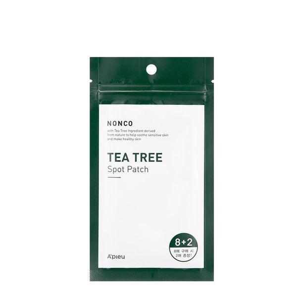 A'Pieu Tea Tree Spot Patch 10pcs 茶树消炎杀菌痘痘贴