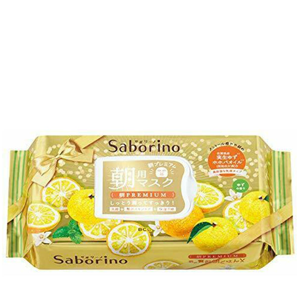 BCL Saborino Premium Morning Mask Yuzu 28 Sheets 日本BCL 奢華早安面膜青柑橘 (冬季限定) 28片