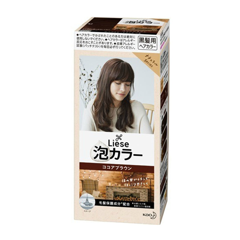 KAO Liese Prettia Bubble Hair Color Dying Kit #Cocoa Brown