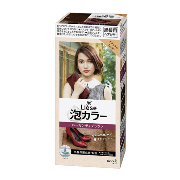 Kao Liese Prettia Bubble Color # Burgundy Brown  日本花王 泡泡染发剂-酒红棕色