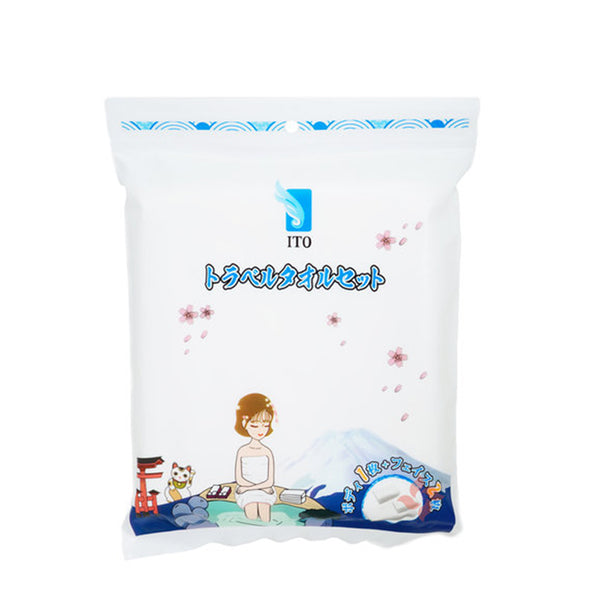 ITO Travel Towel Set Disposable (1 Body + 2 Faces)