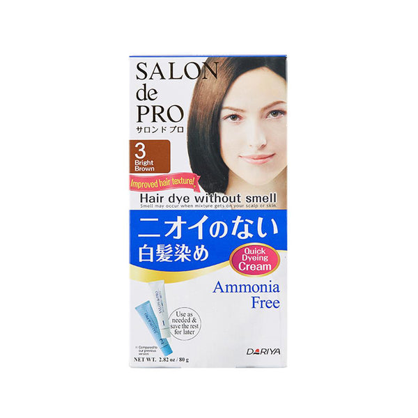 Dariya Salon De Pro Hair Dye No Smell #3 Bright Brown