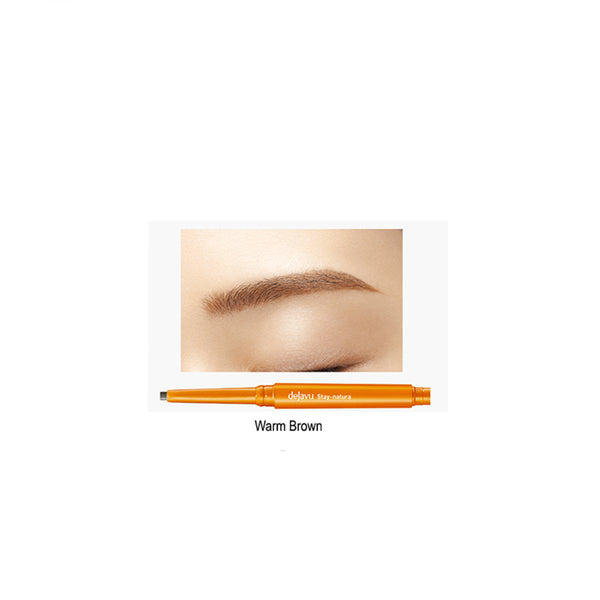 IMJU DEJAVU Natural Lasting Eyebrow Pencil 3, Warm Brown 黛佳碧 自然持色眉笔 (浅棕)