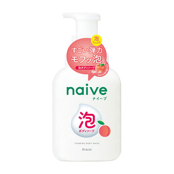 Naive Foaming Body Wash [#Peach Leaf] 530ML