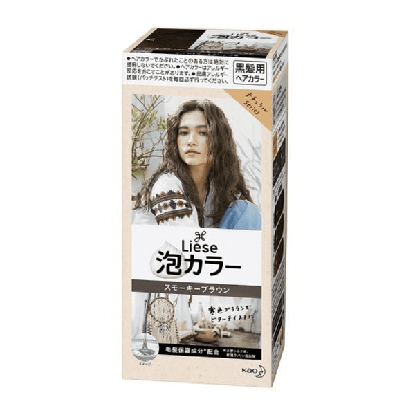 KAO Liese Prettia Bubble Hair Color- Smokey Brown
