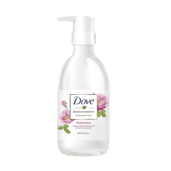 Lever Dove Botanical Selection Body Wash Damask Rose Pump 500g  日本植萃滋养沐浴乳-玫瑰香