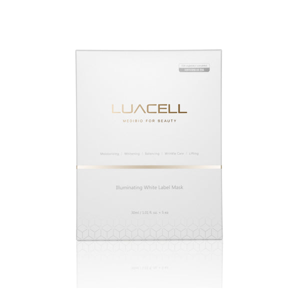 Luacell Illuminating White Label Facial Mask 5pcs 韩国Luacell 高贵琥珀干细胞面膜